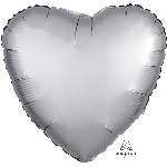"18""/45cm CORAZON Satin Platinum Heart"