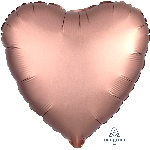 "18""/45cm CORAZON Satin Rose Copper Heart"