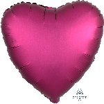"18""/45cm CORAZON Satin Pomegranate Heart (EMPAQUETADOS)"