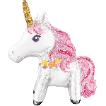 Magical Unicorn Foil Multi Balloons 25''/55cm x 25''/63cm