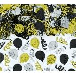 Confeti Balloon Black Gold & Silver 70g