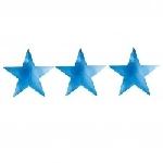 Recortable 12.7cm:STAR Azul