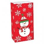 Bolsa Snowman Treat Sacks 25cm x 13cm x 7.5cm
