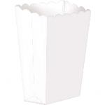 Cajas White Small Paper Popcorn