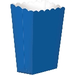 Cajas Bright Royal Blue Small Paper Popcorn