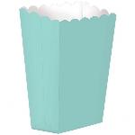Cajas Robin Egg Blue Small Paper Popcorn