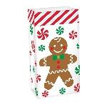 Bolsa Gingerbread Man Treat Sacks 13cm x 25cm