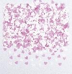Confeti Mini Pink/White Paper Hearts  - 56.6g