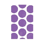 Bolsa Candy Buffet Polka Dots  Purple