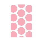 Bolsa Candy Buffet Polka Dots  Light Pink