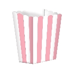 Bolsa Candy Buffet Popcorn Boxes Light Pink