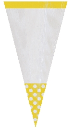 Bolsa Candy Buffet Cone Polka Dots Sun Yellow