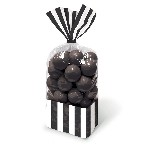 Bolsa Candy Buffet Black Striped Party