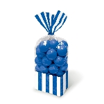 Bolsa Candy Buffet Striped Party Royal Blue