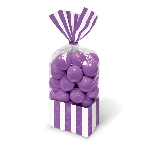 Bolsa Candy Buffet Striped Party Purple