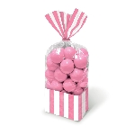 Bolsa Candy Buffet Striped Party Light Pink