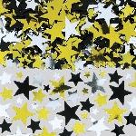 Confeti Gold/Black/Silver Metallic Stars Big Pack 70g