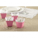 Cajas Light Pink Favours Scalloped Boxes