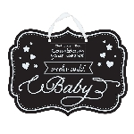 Pizarra Baby Shower Countdown Chalkboard Sign