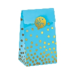 Bolsa Blue Foil Stamped with Sticker