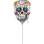 Sugar Skull Mini Shape Foil Balloons A30