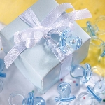 Cajas de regalo Blue Mini Plastic Dummy Favours