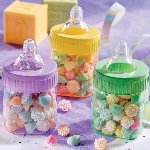 Cajas de regalo Baby Multi-Colours Plastic Fillable Bottles Favours