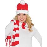 Acc. Disfraz Adulto Santa Knit Ski Cap