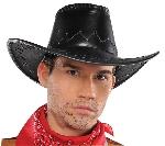 COWBOY BLK FAUX LEATHER Gorro