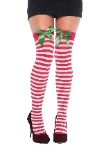 Acc. Disfraz Adulto Holiday Thigh High Tights