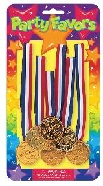 Juguete pkg:Medalla MEDALS 6pc  **Stock
