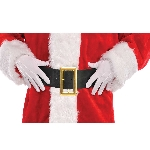 Acc. Disfraz Adulto Santa White Cotton Gloves