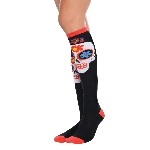 Disfraz Acc Sugar Skull Knee High Socks - Adulto