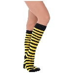 Disfraz Acc Bee Stripe Knee High Socks - Adulto
