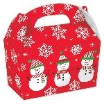 Caja Regalo Snowman Small Gable Cardboard