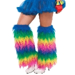 LEG WARMERS PLUSH RAINBOW