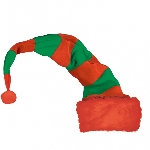 Acc. Disfraz gorro Adulto Long Striped Elf (Bend To Shape) 81.3cm h x 30.5cm w
