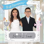 Photo Kit First Communion Personalised Photo Frame with add-ons