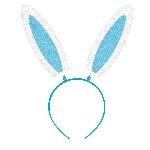 Vincha Diadema con Orejas de Conejo de Fieltro Azul