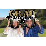 Photo Kit 2018 Grad Jumbo Foil Photo Prop Frames 101cm