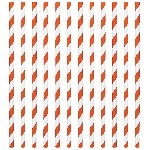 Pajitas Orange Peel Paper Straws 19cm