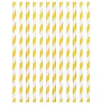 Pajitas Sunshine Yellow Paper Straws 19cm