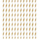 Pajitas Gold Paper Straws 19cm