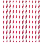 Pajitas Apple Red Paper Straws 19cm