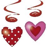 4 Deco spirals Hearts