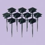 Palillos para Decorar Cupcakes Gorra de Graduación - 7cm