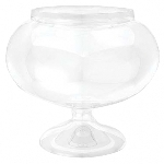 Bowl Short Round Plastic Clear Jar 15.8cm