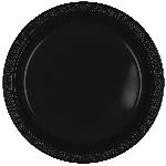 Platos Black Plastic Plates 22.8Cm
