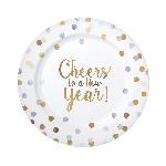 Plato 20.3cm Cheers to You Premium Plastic Plates 18cm