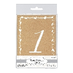 Marcasitios Rustic Table Number Cards